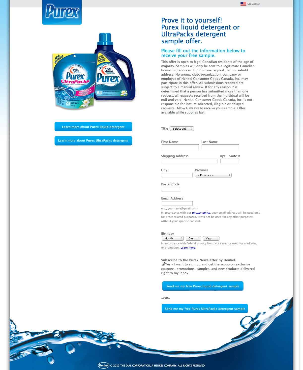 How Purex could have used Social Offers to give away 5,000 free