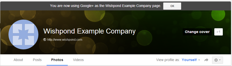 Google Plus Cover Page Business Page